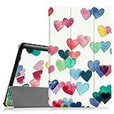 Fintie Samsung Galaxy Tab E 9.6 Hülle Case - Ultra Schlank Superleicht Ständer SlimShell Cover Schutzhülle Etui Tasche für Samsung Galaxy Tab E T560N / T561N 24,3 cm (9,6 Zoll) Tablet-PC, Herzregen