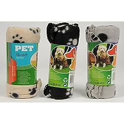 3Pack–Manta para mascotas mascotas, 70x 70techo 3colores surtidos para perros y gatos Forro Polar Manta Manta para perro gato
