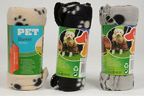 katzeninfo24.de 1x Haustierdecke 70x70cm Haustier Decken 3-farbig sortiert für Hunde und Katzen