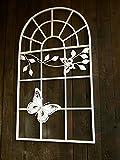 Antikas - Rankgitter wie Eisenfenster, Rosengitter Fenstergitter Rankhilfe Gartenmauer