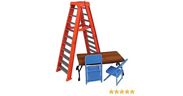table et chaises Playsets for WWE figures Ensemble Complet de tous les 4 Ultimate Ladder