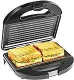 Amazon Brand - Solimo Non-Stick Grill Sandwich Maker (750 watt, Silver and Black)