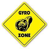 Deko Schilder mit Sprüchen Gyro Zone Zeichen Neuheit Griechisch Essen Oliven Pita Tsatsiki Souvlaki Metall Aluminium Wand Sicherheit Schild