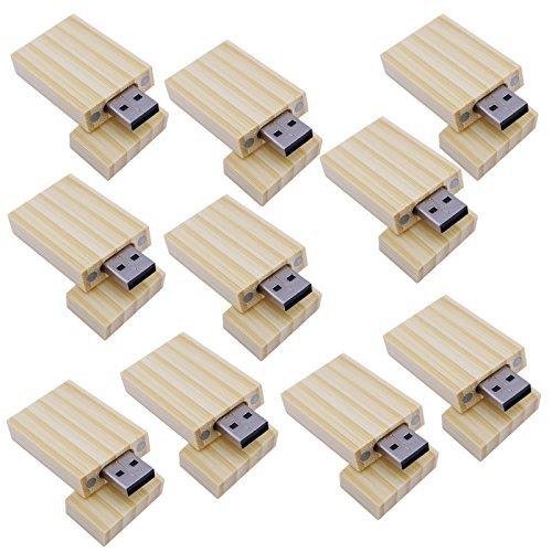 10 Stück Naturbambus 8GB Speicherstick USB Bambus USB-Stick Geschäfts-Geschenk