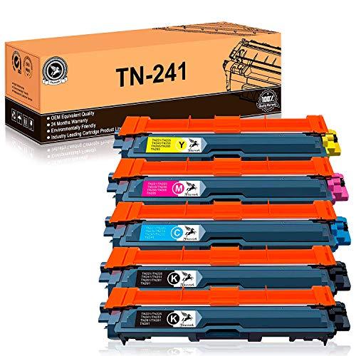 FITU WORK TN241 TN245 Cartuccia del toner Compatibile per Brother DCP-9020CDW HL-3140CW DCP-9015CDW DCP-9017CDW HL-3150CDW HL-3170CDW MFC-9130CW MFC-9140CDN MFC-9330CDW MFC-9340CDW (5pacchi)