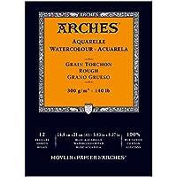 Unbekannt Arches–Bloc para acuarelas, madera, color blanco, madera, weiß, 21 x 14.8 x 1 cm