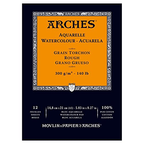 arches-bloc-aquarelle-grain-torchon-a5-300-g-12-pages-naturel-blanc