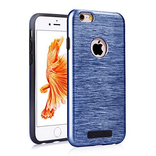 """iPhone 6s Schutzhülle, [Tough Armor] CLTPY iPhone 6 Handycase Ultra Hybrid PC & Silikon Abdeckung mit Flip [Kickstand] & Kartenschlitz, Schwarz Rüstung Harter Fall für 4.7"""" Apple iPhone 6/6s + 1 x Sti Dunkelblau A"""