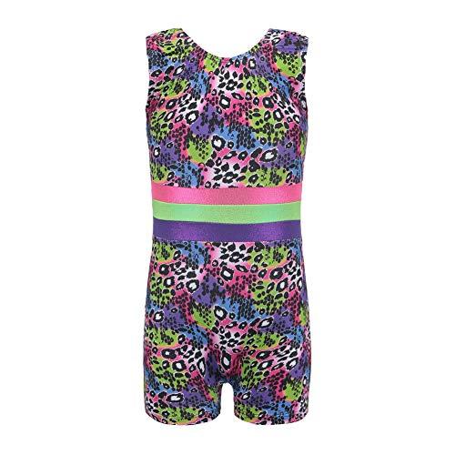 rikots für Mädchen, Einteilige ärmellose gedruckt Ballett Trikots für Kleinkinder Kleine Mädchen Praxis Outfit ()