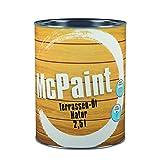 McPaint Terrassen Öl, Expresstrocknung und hoher UV-Schutz, wasserverdünnbar, speziell für verschiedene Holzarten in natur, 2,5L