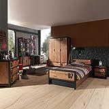Kinderzimmer Kiefer massiv Schreibtisch Bett Kindermöbel Regal Kleiderschrank