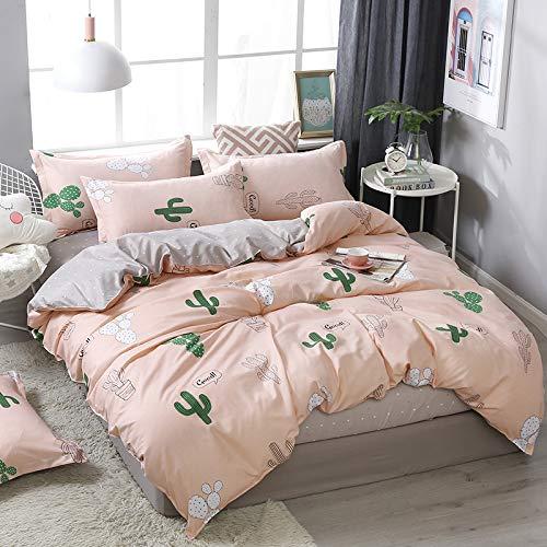 SHJIA Superfine Fiberfour Seasons Universal Bettwäsche-Sets Full King Twin Queen Size Bettlaken Kissenbezug & Bettbezug-Sets Pink 180X220Cm - Twin-size-bettlaken