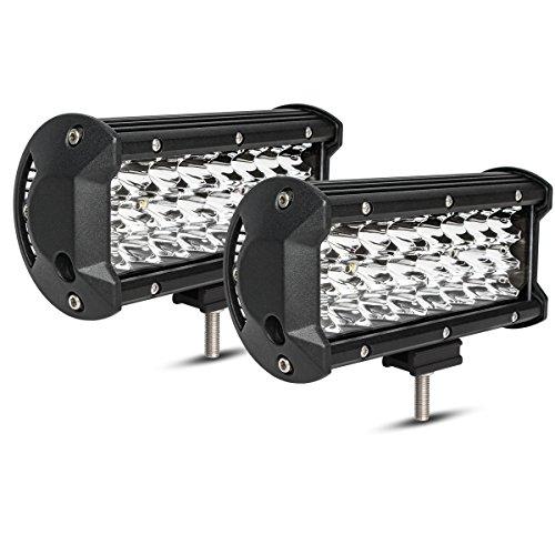 Preisvergleich Produktbild Autofeel führte helle Stab 2PCS 3 Reihenlichter 36w 7 Zoll Nebel-Licht weg von den Straßen-Lichter, die Lichter fuhren, führte wasserdichte LED, die Lichter fährt Boots-Lampe - 1 Jahre Garant
