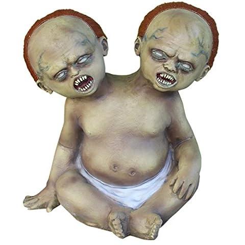 Horror Amusement Park Props Halloween Face PU Double Head,Rubber-L