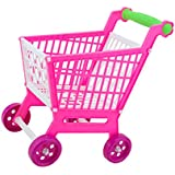 MagiDeal Miniature Shopping Supermarket Trolley Cart KIds Children Plastic Developmental Toy Fun Game