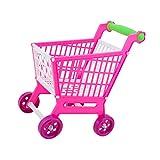 Sharplace Miniatur Supermarkt Einkaufswagen Warenkorb aus Kunststoff für Kinder Rollenspiel Spielzeug Zubehör