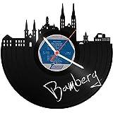 GRAVURZEILE Schallplattenuhr Skyline Bamberg