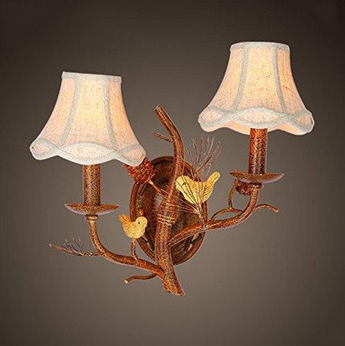 Jiaa Home Decor Produkte mit Modernen und Stilvollen Aussehen Design American Style ländlichen ländlichen Wand Lampenfassung Universalgebrauch Home Bedside Lampen Villa Hotel Gang Zweige Vögel Wandle - Vögel Serviettenhalter