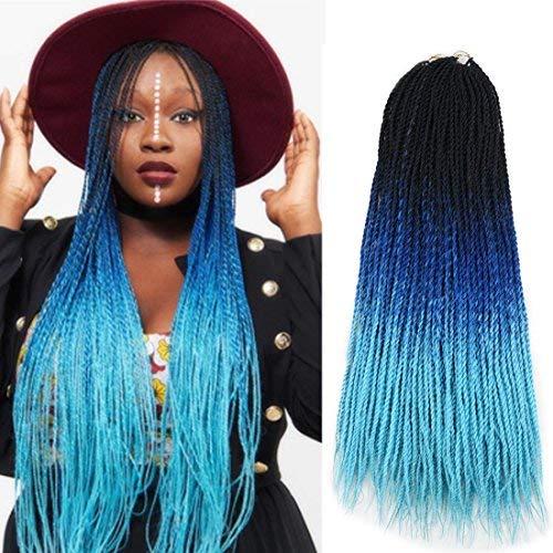 Ombre Sénégalaise torsadée 2x Kanekalon Synthétique crochet tressage cheveux 5 packs/lot 24inch
