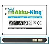 Akku-King Akku für HTC Wildfire, G8, A3333, A6363, Buzz, HTC Evo 4G, Legend G6, Incredible - ersetzt BA S420, S440, BB96100, 35H00134-17M - Li-Ion 1650 mAh