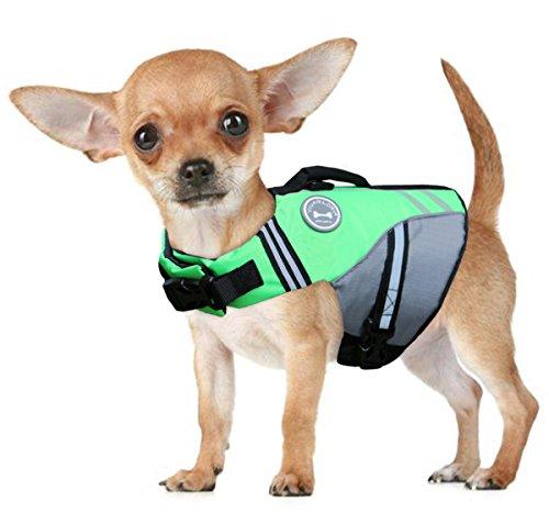 Vivaglory Neuartige Sport Style Ripstop Haustier Hunde-Schwimmweste mit überlegenem Auftrieb und Rettungsgriff - 6