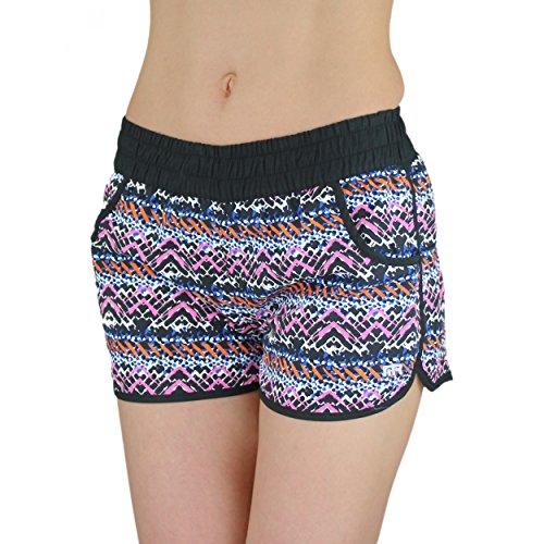 Badeshorts Damen Shorts Badehose Bikini S-XXL Strand Pink Mädchen Kind Hot Pants