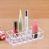 Lippenstifthalter für 12 Lippenstifte aus Acryl Kosmetikständer Aufbewahrungsbox Lippenstiftständer