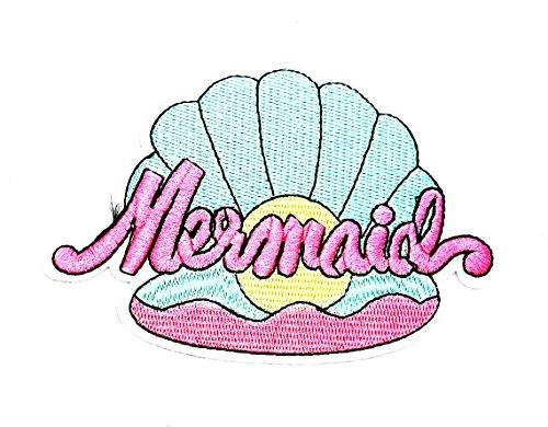 bd460d432a2 Little Bear Shop Cartoon Patches Parche Bordado a Mano con Diseño de Sirena  de Ariel con
