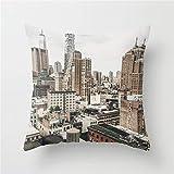 DearLord New York City View Kissenbezug 45,7 x 45,7 cm