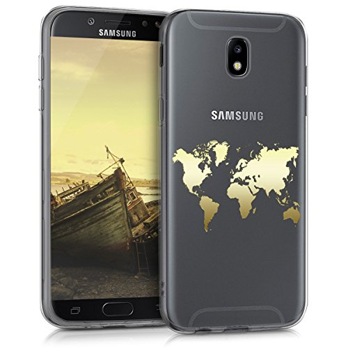 kwmobile Samsung Galaxy J5 (2017) DUOS Hülle - Handyhülle für Samsung Galaxy J5 (2017) DUOS - Handy Case in Gold Transparent