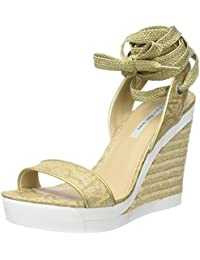 GetmorebeautyUpdate - Sandalias con cuña mujer , color dorado, talla 35.5