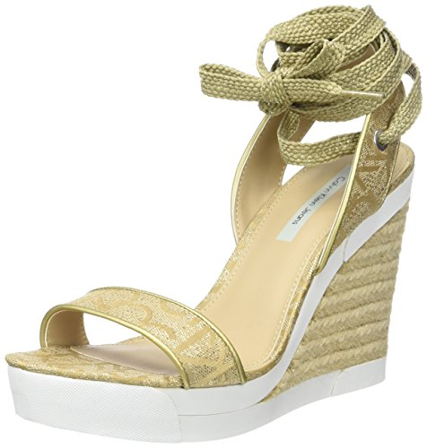 Calvin Klein Jeans Damen Eleanor Metallic Jacq./Nappa Smooth Pumps, Gold (Gld), 39 EU
