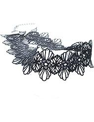 Lolita Gótico Hueco Gargantilde Encaje Negro de Collar de Joyería de Moda