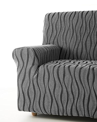 Zebra Textil 42696sofahusse Elasticizzato Andromeda, 2posti, Grigio