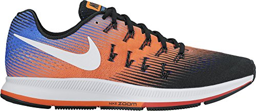 Nike Air Zoom Pegasus 33, Scarpe da Corsa Uomo Multicolore (Black/White-Hyper Orange-Paramount Blue)