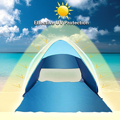 Pop-Up-Beach-Tent-J-Bonest-Portable-Outdoor-Automatic-Pop-Up-Beach-Shelter-with-UV-protection-50-UPF-Lightweight-Hiking-Camping-Beach-Tent-for-2-3-Person