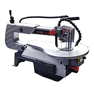 KATSU 120W Electric Scroll Saw Table Jigsaw with LED Light Blower &10pcs blade