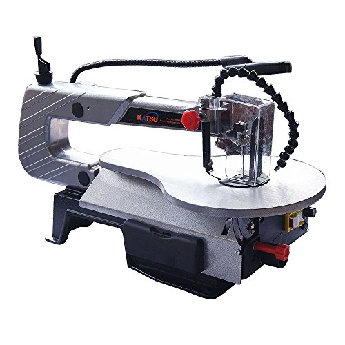 This scroll saw from KATSU Tools has a solid cast iron construction that will last a long time. The saw provides very smooth cuts that are fantastic of a model in this price range.