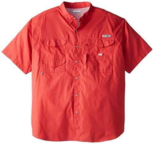Columbia Sportswear Men's Bonehead Short Sleeve Shirt, Sunset Red, 2X Tall