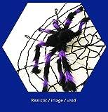 WSLTH Halloween / Decorazione / Divertente / Spoof / Dolcetto / giocattolo per tutta la persona / nero / colore / statico peluche / oggetti di scena (Viola nero)