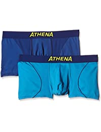Athena Free Motion - Boxer - Multicolore - Lot de 2 - Homme