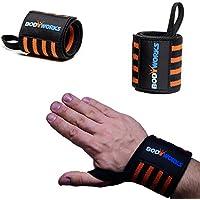 Bodyworks Handgelenkbandagen Bodybuilding - Power Wrist Wraps - Farbe: schwarz/orange preisvergleich bei billige-tabletten.eu