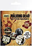 The Walking Dead Badge Pack - 4 X 25mm & 2 X 32mm Badges (6 x 4 inches)