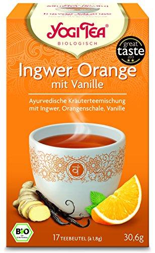 10 x Yogi Tee BIO Ingwer Orange mit Vanille (=10er Pack) (frachtfreie Lieferung innerhalb Deutschlands) (Bio-orange Ingwer)