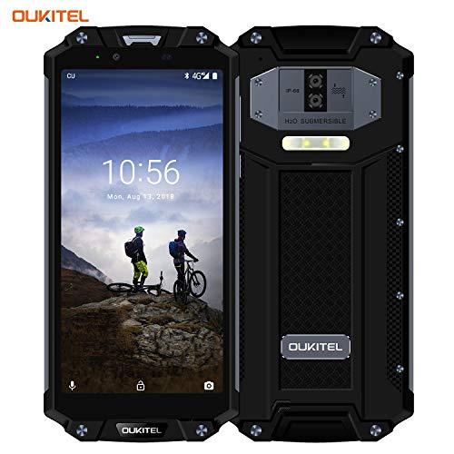 OUKITEL WP2, 10000mAh Outdoor Handy Dual SIM IP68 Smartphone 6 Zoll 4GB RAM 64GB ROM Android 8.0 16MP+2MP+8MP Kamera Wasserdicht Stoßfest Staubdicht Robuste Seite Fingerabdruck NFC-Schwarz