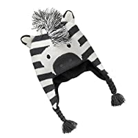 Singring Baby Kids Girls Boys Winter Warm Zebra Caps Hats (S)