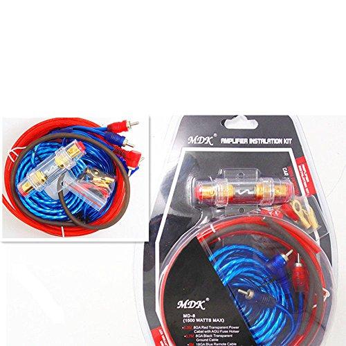 Heißer Selling1500w 8ga Auto Audio Subwoofer Verstärker Amp Wiring Sicherungshalter Draht Kabel Kit (Auto-audio-subwoofer-draht)
