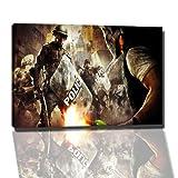 Dark Hooligan vs. Police Bild auf Leinwand -- 100x70 cmfertig gerahmte Kunstdruckbilder als Wandbild - Billiger als Ölbild oder Gemälde - KEIN Poster oder Plakat