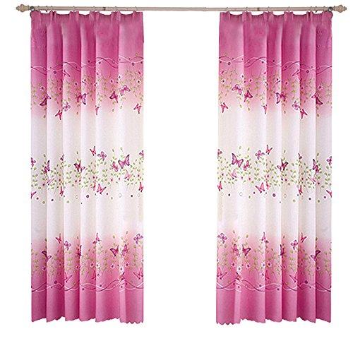 Blanketswarm 1Panel Schmetterling Druck Vorhänge, Fresh Landschaft KE Bridge Tür Fenster Dekorieren für Wohnzimmer, 1Meter x 2m