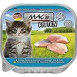 MACs Cat Feinschmecker 85g Kitten Pute, Huhn, Lachs Katzenfutter Schale